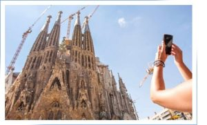 Sagrada Familia is included in the Barcelona and Montserrat tour