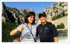 Our guide Elena at Mount Montserrat