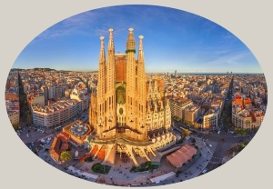 View of Barcelona from above